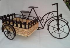 Bici de foja con cesto