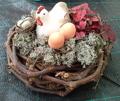 Gallina de Pascua con nido